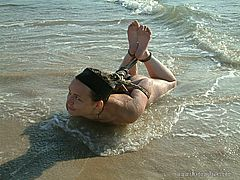 Lesbian Beach Bondage